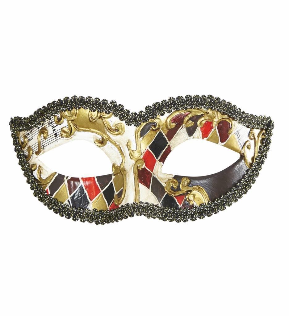 Oogmasker Harlekijn Venetiaans