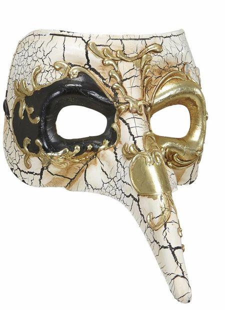 Luxe venetiemasker, lange neus