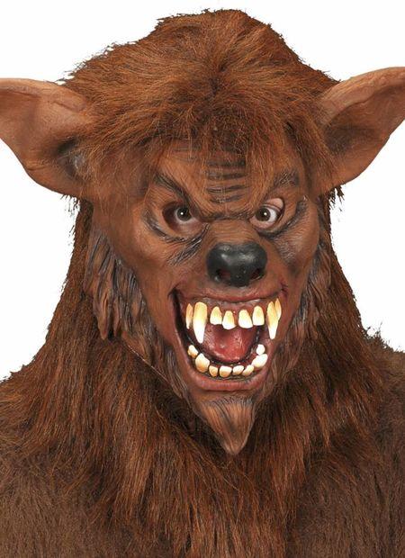 Masker weerwolf met plushe haar