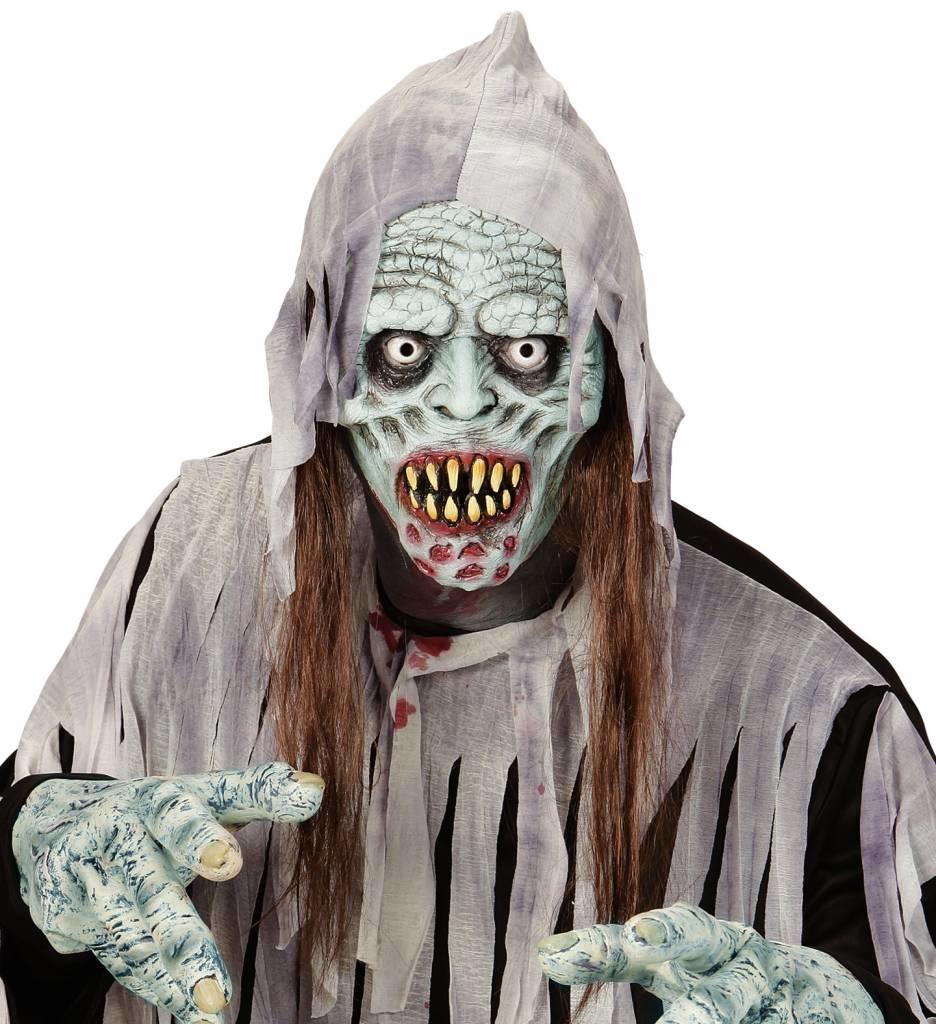 Masker Besmette Zombie Met Haar