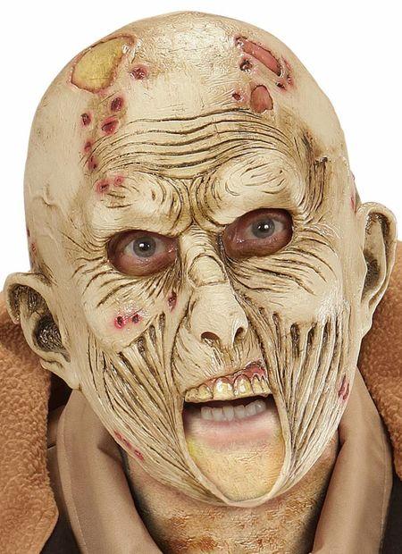 Kindermasker zombie met open mond