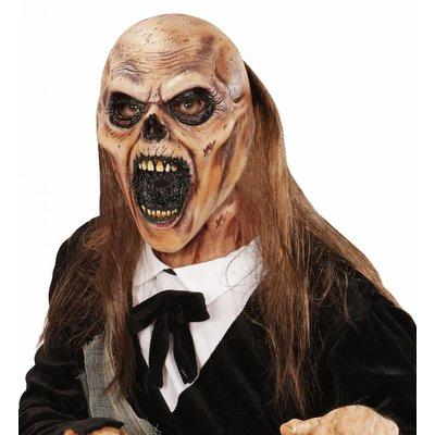 Masker Zombie Begraafplaats Met Haar