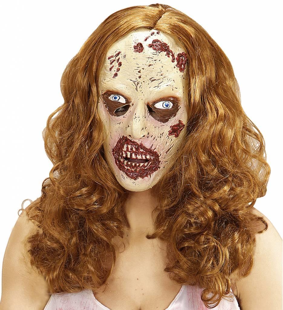 Zombiemasker Met Pruik