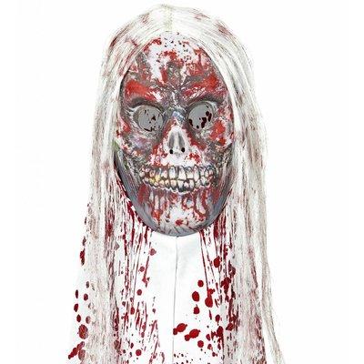 Masker Zombie Met Kap En Haar
