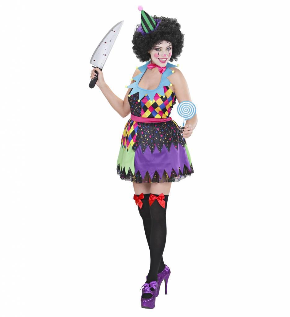 Kleurrijke Killer Clown Dame