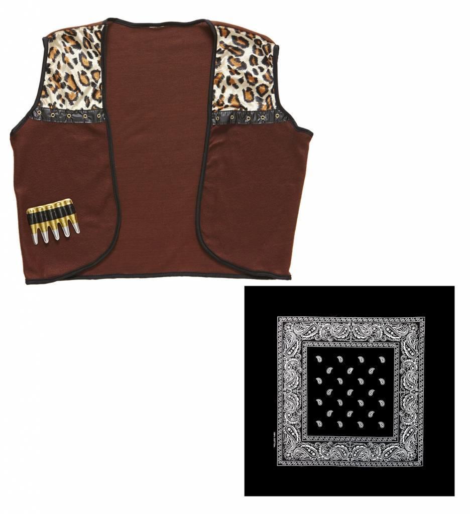 Cowboy Vest Met Bandana