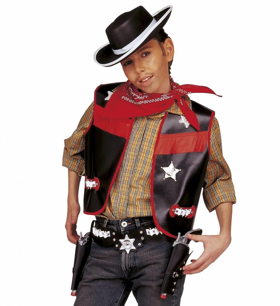 Cowboyset Jongen Zwart