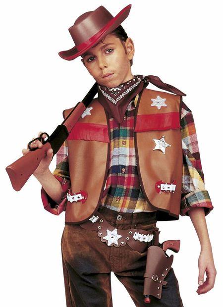 Cowboyset jongen, bruin