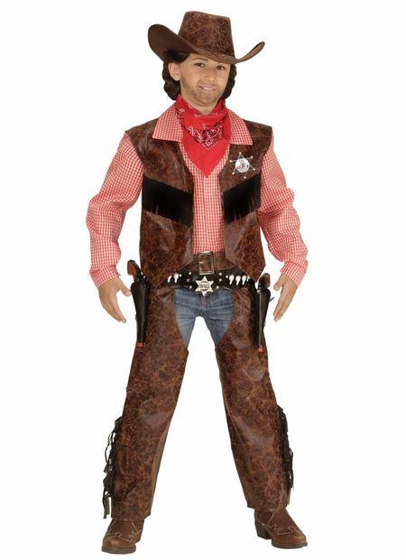 Cowboy jongen leer