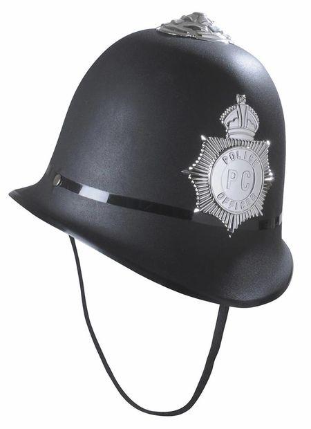 Engelse bobbie helm hard plastic