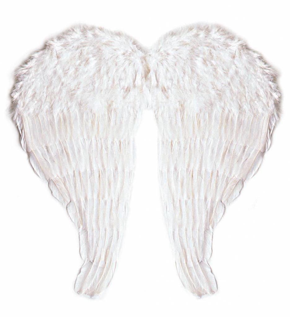 Veren Vleugel Engel 64X67Cm In Wit