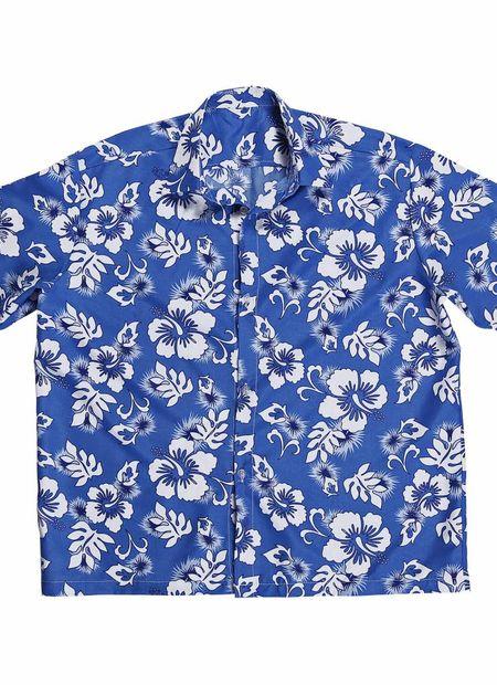 Hawaii shirt blauw