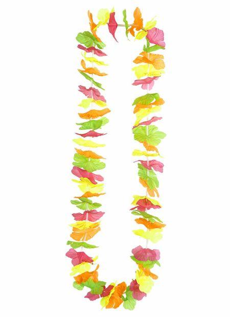 Hawaii krans meerkleurig neon