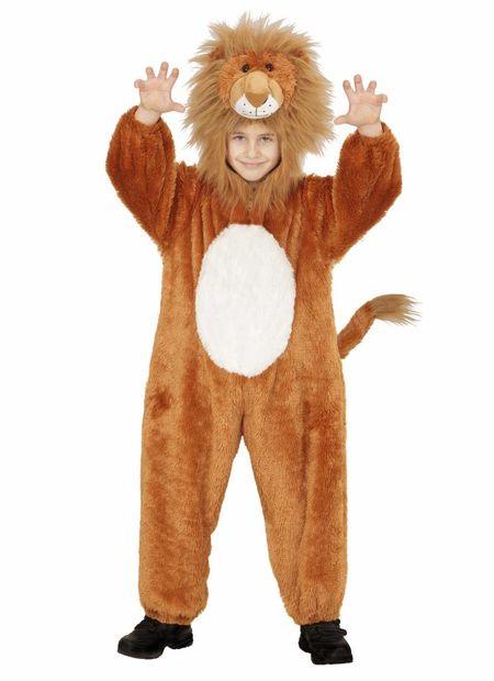Jumpsuit met kap en masker leeuw