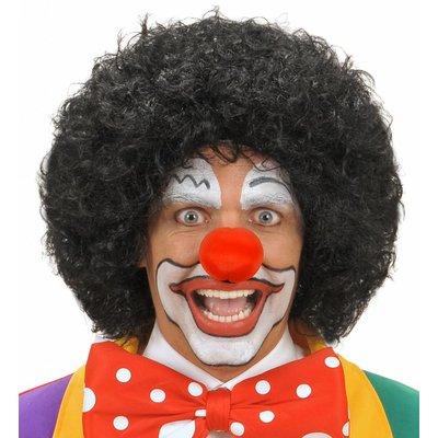 Pruik Clown Zwart
