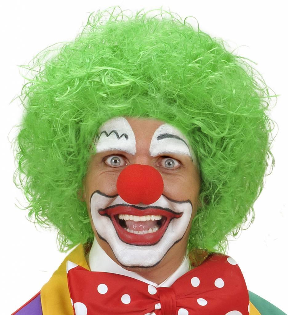 Pruik Clown Groen