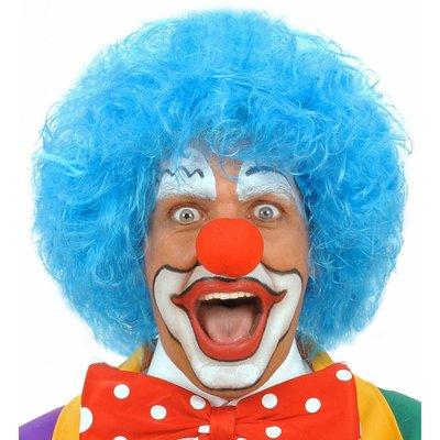 Pruik Clown Blauw