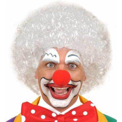 Pruik Clown Wit