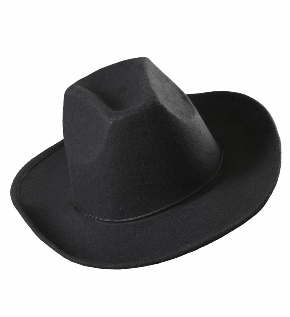 Cowboyhoed Zwart Wol