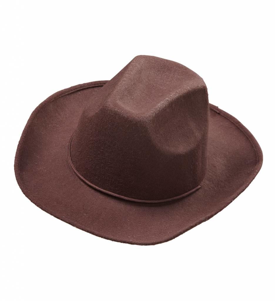 Cowboyhoed Bruin Wol