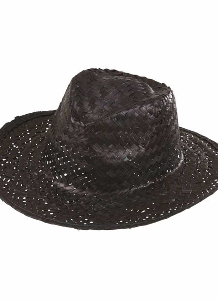 Cowboyhoed stro, zwart