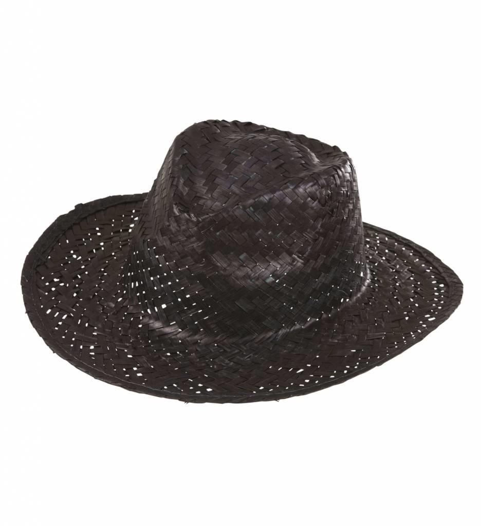 Cowboyhoed Stro Zwart