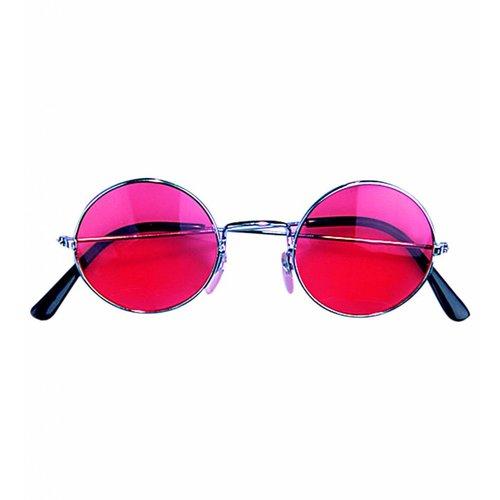 Widmann Bril Hippie Rood Glas