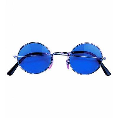 Bril Hippie Blauw Glas