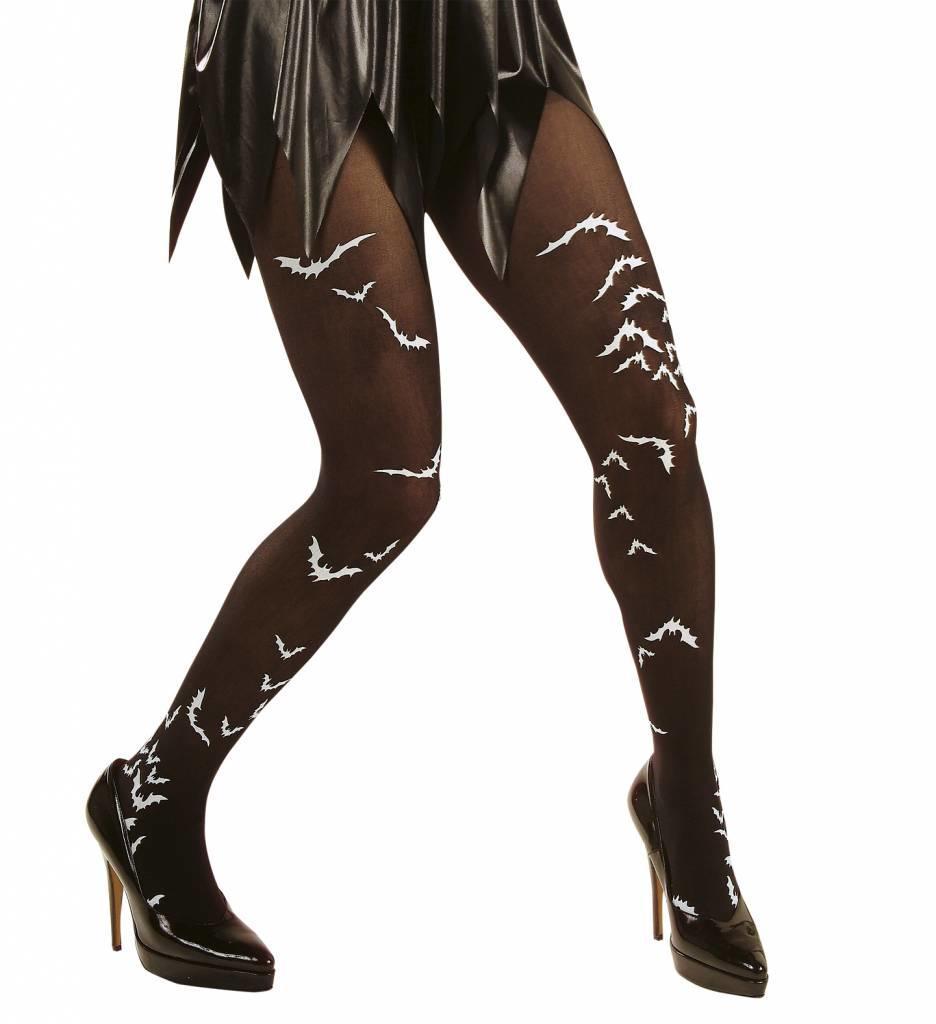 Panty Zwart Met Vleermuis