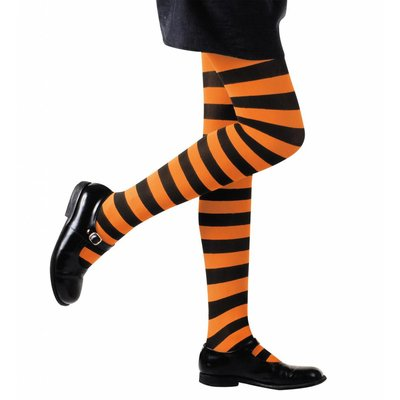 Kinderpanty Gestreept Oranje/Zwart