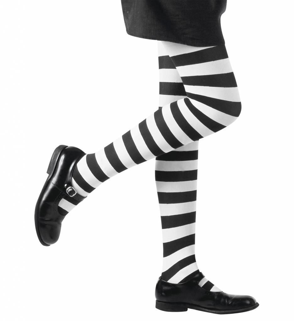Kinderpanty Gestreept Wit/Zwart