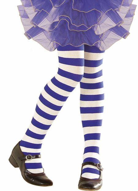 Kinderpanty gestreept, wit/blauw