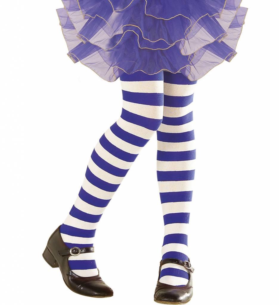 Kinderpanty Gestreept Wit/Blauw