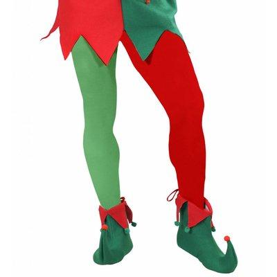 Panty Meerkleurig Rood/Groen