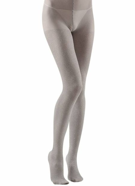 Panty 40den, glitter zilver