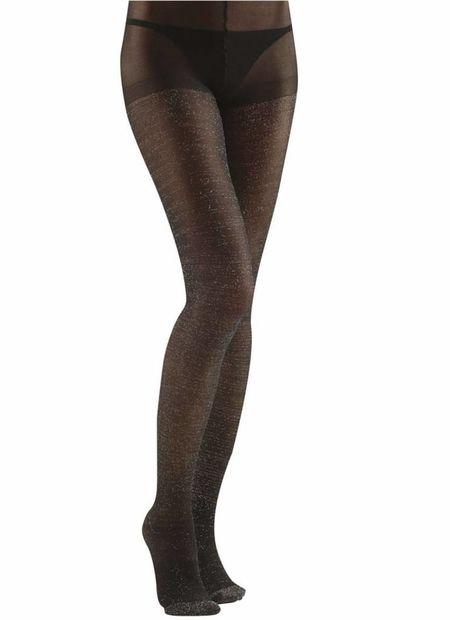 Panty 40den, glitter zwart