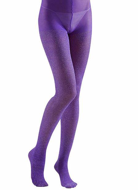 Panty 40den, glitter paars