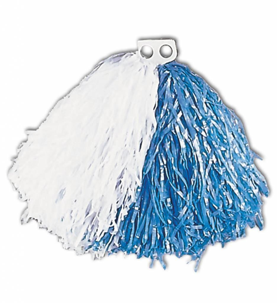 Pom Pom Wit/Blauw
