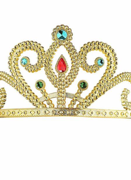 Prinsessenkroon zilver met diamanten, goud