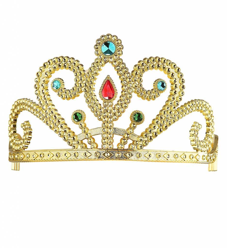 Prinsessenkroon Zilver Met Diamanten Goud