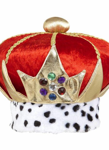 Kroon koning van rood fluweel