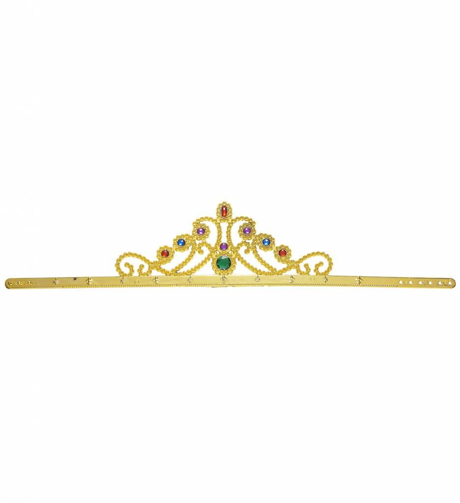Kroon Koningin Met Stenen Goud