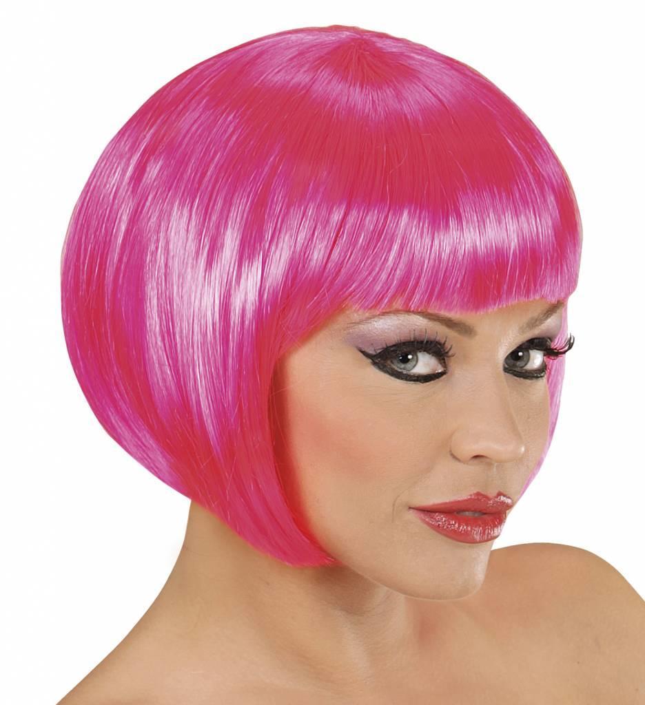 Pruik Boblijn Hard Roze