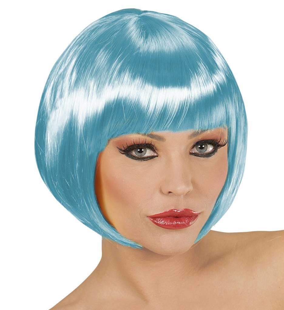 Pruik Boblijn Azuur Blauw
