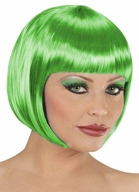 Pruik, boblijn groen