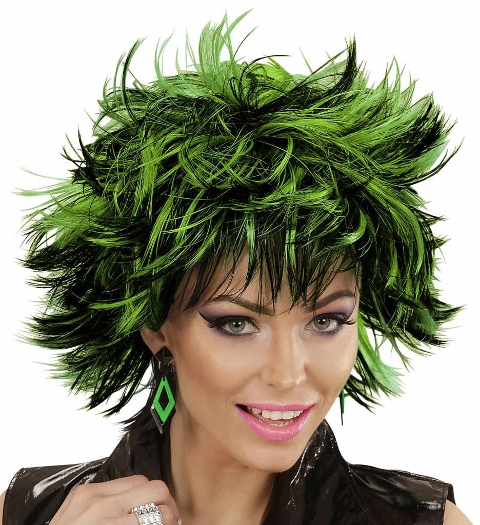 Pruik Steamy Zwart/Groen