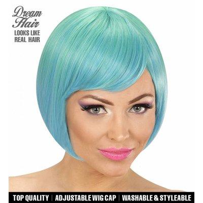 Pruik Melange Fashion Groen/Blauw