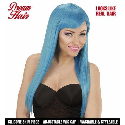 Pruik Fashion Blauw