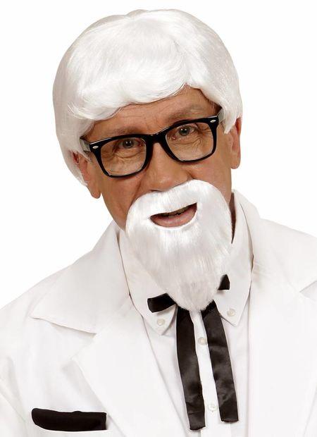 Pruik, kentucky met baard