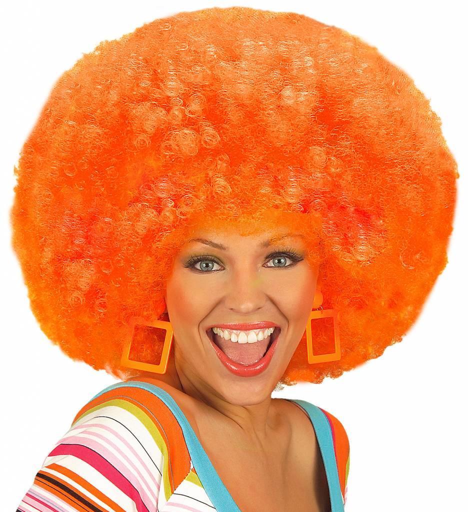 Pruik Jimmy Extra Krul Oranje